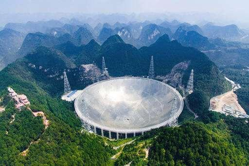 45 The 500 meter Aperture Spherical Telescope (FAST) in the remote Pingtang county in southwest China's Guizhou