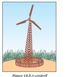 5) Wind Energy Cause Unequal heating of the landmass and water bodies by solar radiation generates air movement and causes winds to blow. This kinetic energy of the wind can be used to do work.