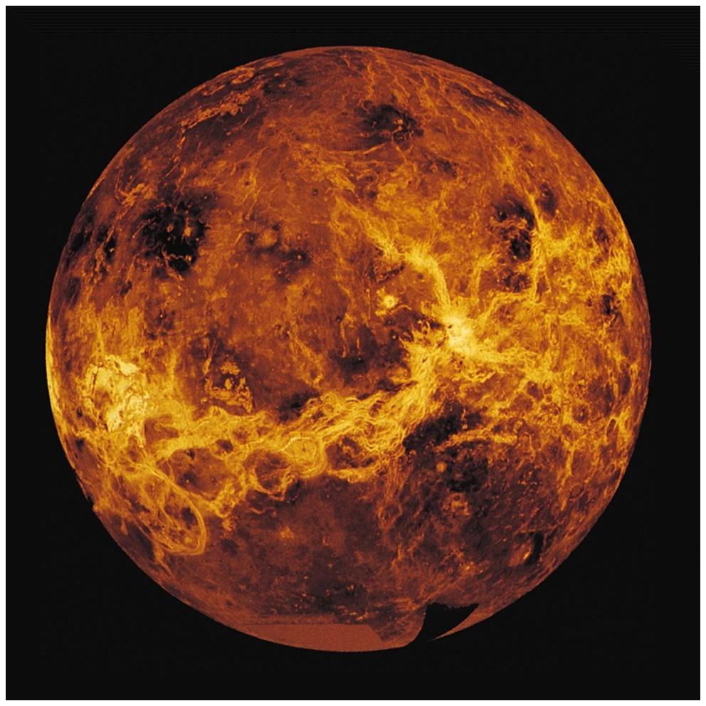 Venus: An extreme climate Earth's twin in size Massive choking atmosphere Clue