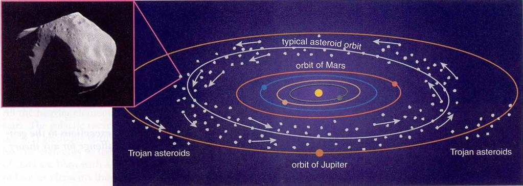 The main asteroid belt Swarms of asteroids and comets populate the Solar System Rocky