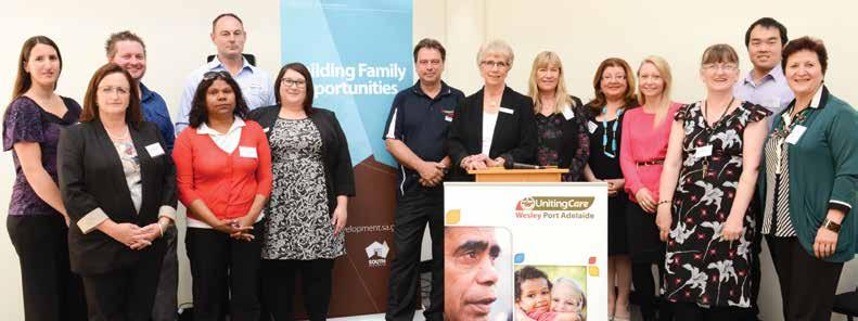 Above: The new Building Family Opportunities program was officially launched in September.