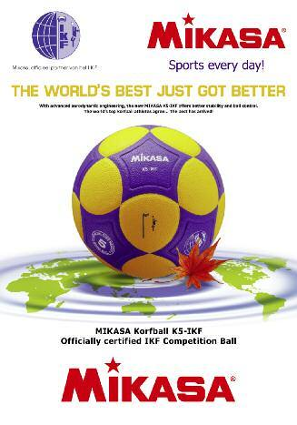 Magazine of the International Korfball Federation Mikasa, Official partner of the I.K.F. England takes the bronze medal for the first time since 1990 dominant.