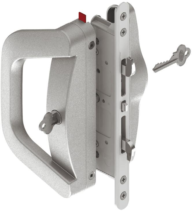 Suitable for use with aluminium, timber or upvc horizontal sliding doors and windows.