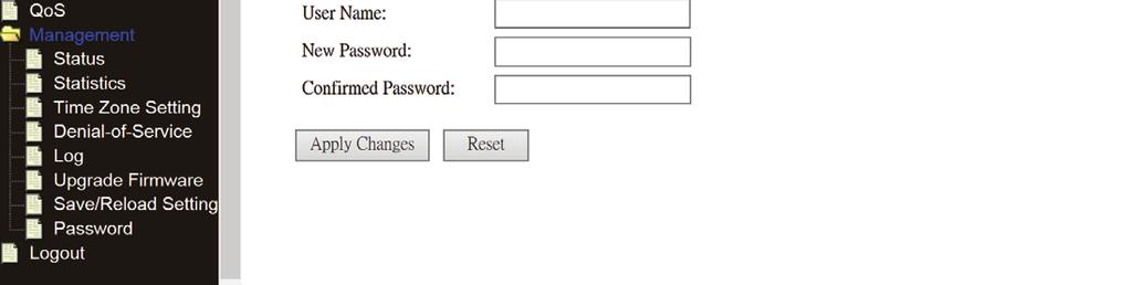 Change management password and language Default password of Wireless Router is admin, and it s displayed on the login prompt when accessed from web browser.
