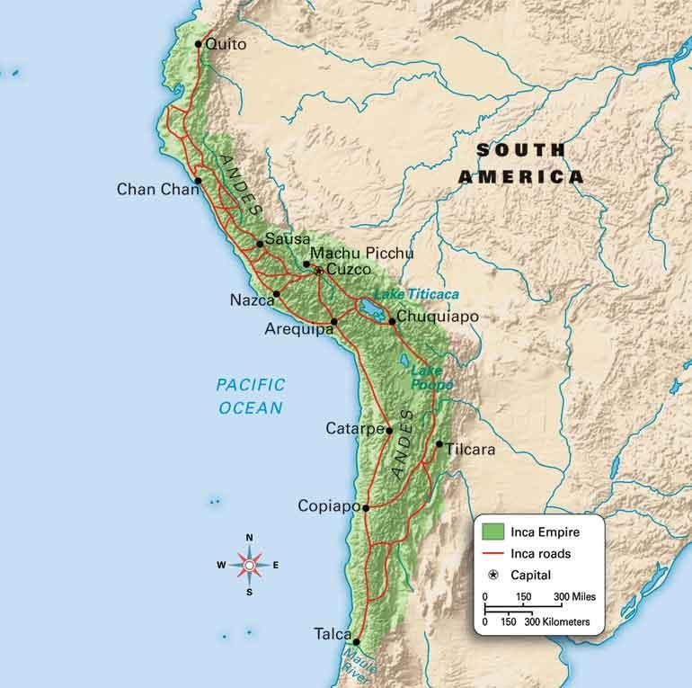 Inca Empire On World Map.Inca Empire Reading Questions Map Activity And Article Writing