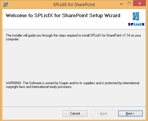 Once you download the software, you can install applications package according to your SharePoint export backup and archiving requirements.