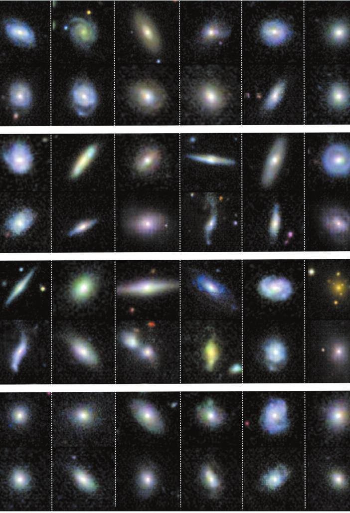 NEWS IN FOCUS ARTIFICIAL INTELLIGENCE Astronomers explore uses for AI-generated images Neural networks create pictures to train image-recognition programs and science software. LEFT, FIGURE: S.