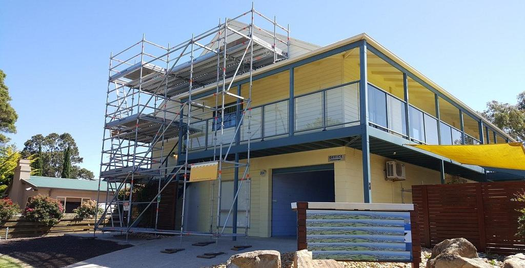 Exterior Maintenance Access Scaffolds can be used to construct effective, secure, structural