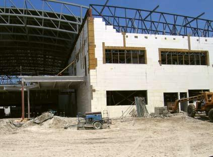 Commercial icf construction building tall walls heavy for Icf construction florida