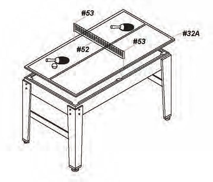 sportcraft table tennis assembly instructions