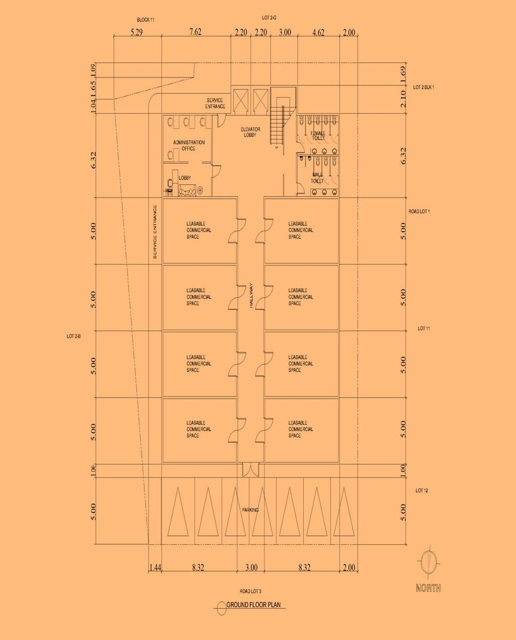 Design Of A Three Storey Commercial Building With Titanium