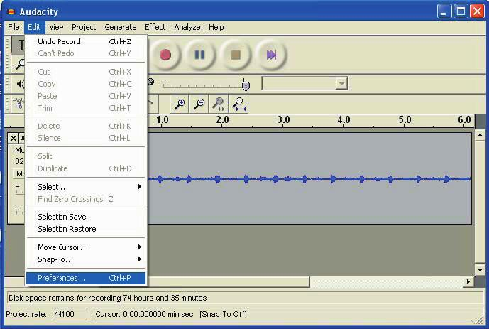 how to put recorded files from phone to audacity