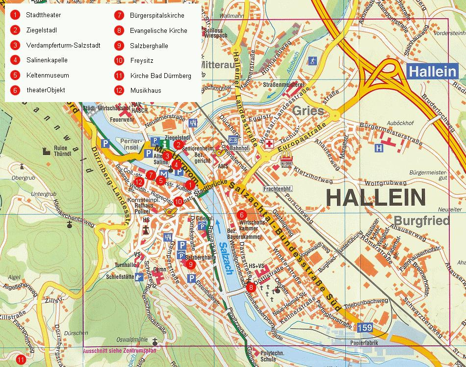 Source: Stadt Hallein website (Schubert und Franzke) (c) Accessibility transportation node As described above, Hallein is well served by both a vehicular and a public transport system and is easily