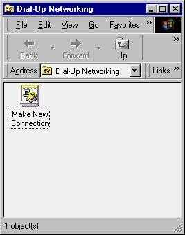 3. Once you have this window open, you can start to configure a new connection by double-clicking the Make New Connection icon. 4.