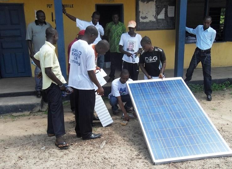 This Ghana based organization was represented by Nicolas Opoku Kwarteng, who provided a training course in basic solar installation and maintenance at Gbendembu. James B.