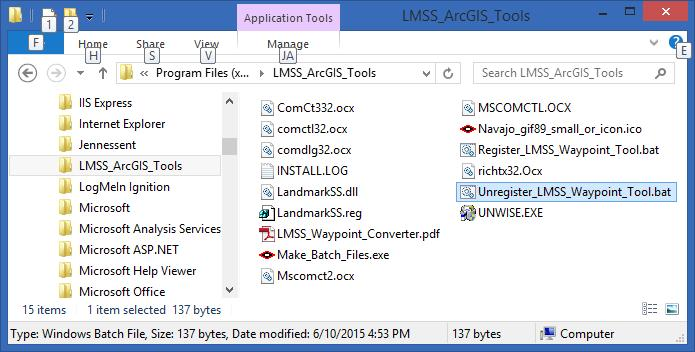 NAME: LMSS ArcGIS Tools Install File: Last modified: TOPICS