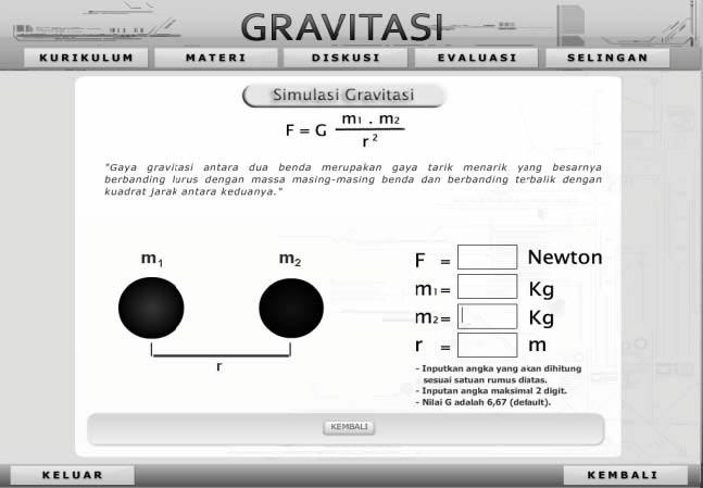 Table of content no name title page 1 dr cut kamaril wardani 2 figure 10 simulation on 1 st newton gravitation gravitation discussion menu figure 11 simulation ccuart Gallery
