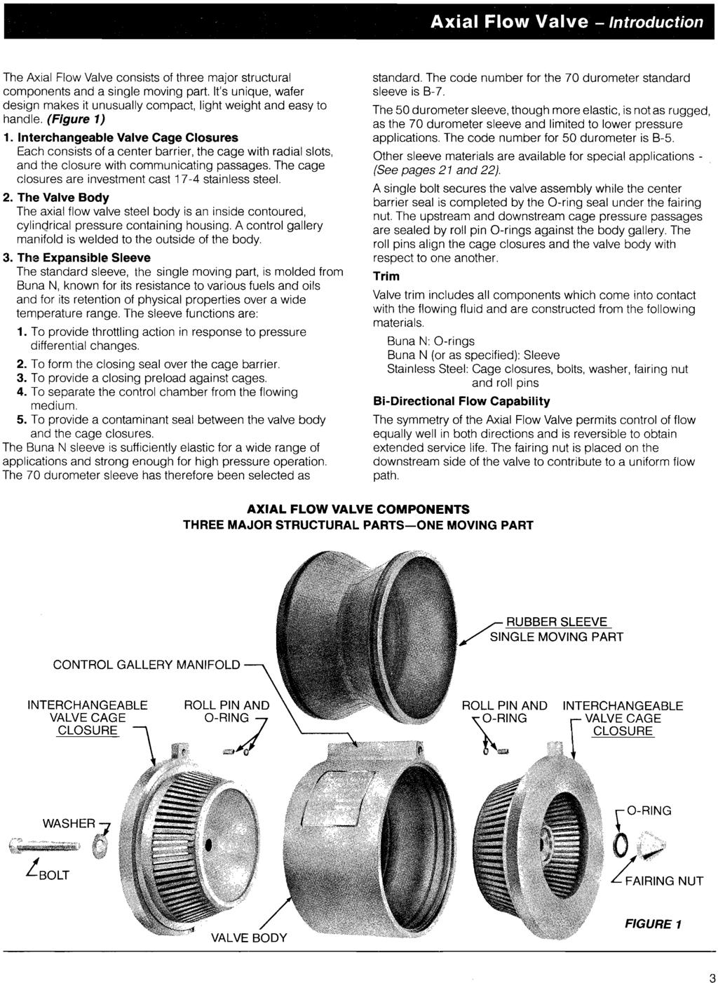 Axial Flow Valves Class 300 : Axial flow valves and series inch thru