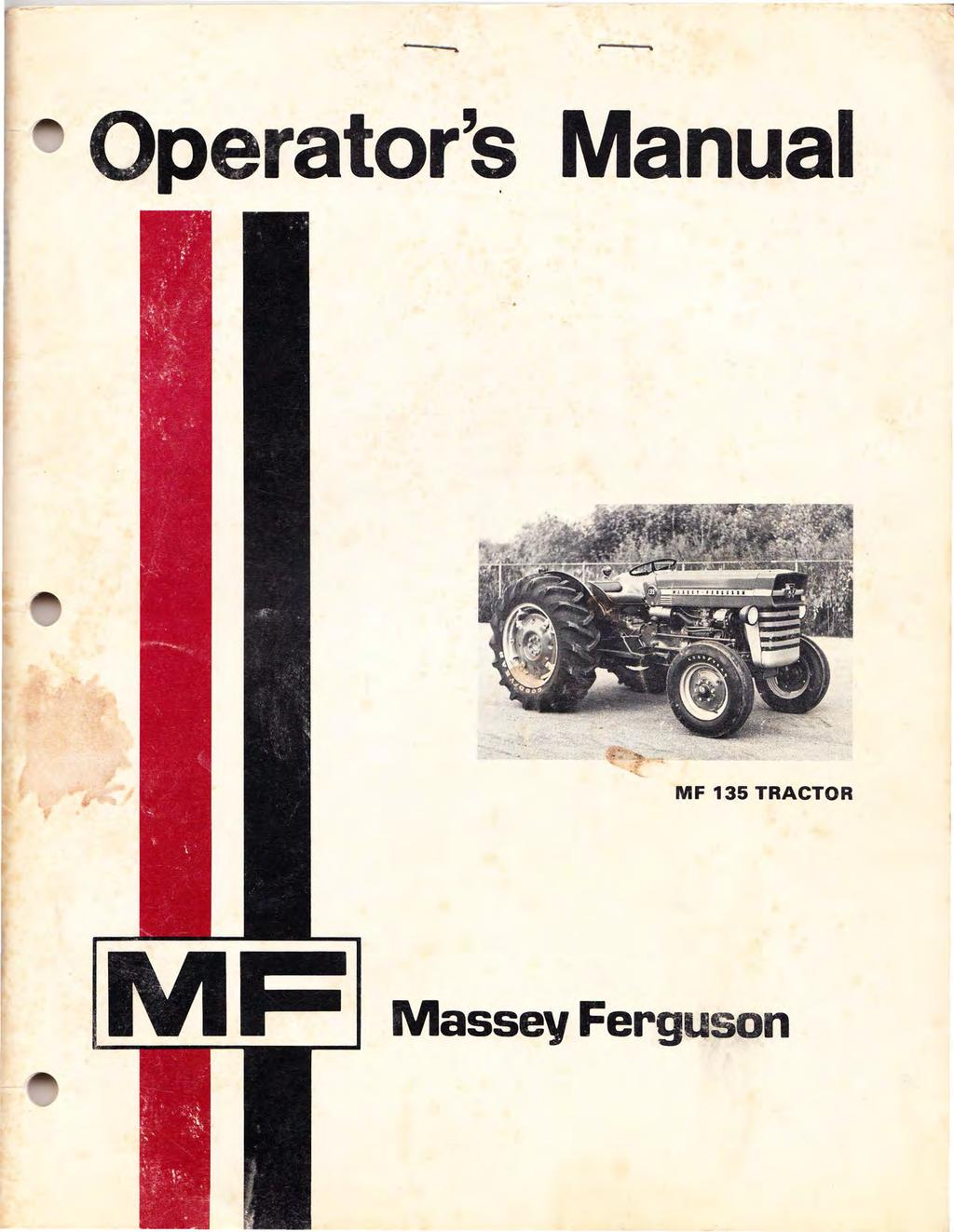 MASSEY FERGUSON MF 32 LOADER ASSEMBLY AND PRE-DELIVERY