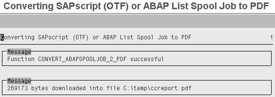 Function Module To Convert Spool To Pdf In Sap
