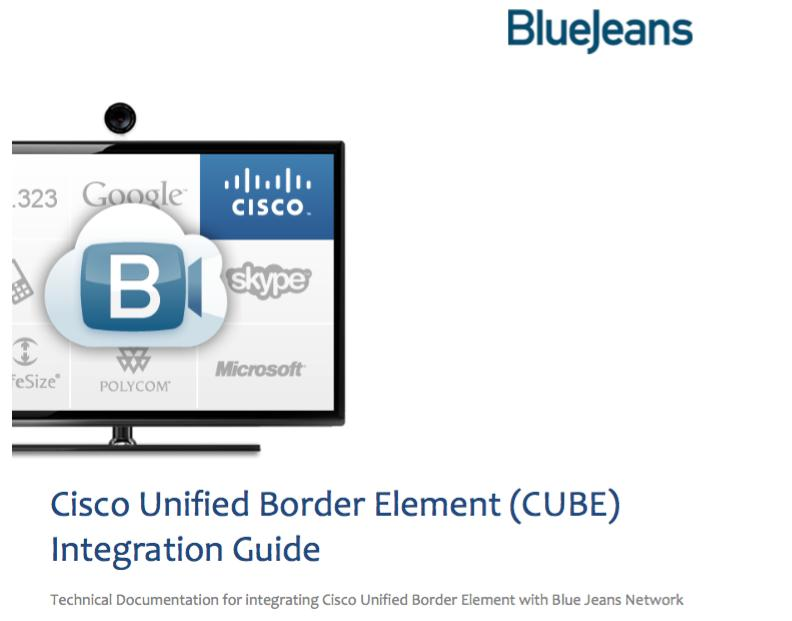 Cisco Unified Border Element (CUBE) Integration Guide - PDF