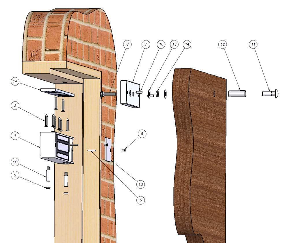 12v 24v Magnetic Door Lock 1200lbs With Brackets Pdf Fsh Maglock Wiring Diagram Close The And Use Armature To Mark For Drilling 6