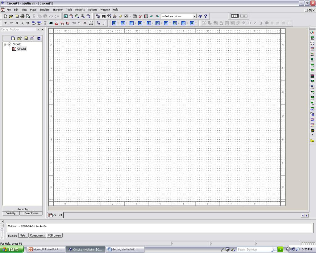 Multisim Tutorial Basics Of Schematic Capture By James P O Rourke Your Own Like Circuit Design And Simulation Application Component Toolbar