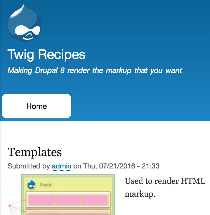 Twig Recipes Making Drupal 8 Render the Markup You Want - PDF