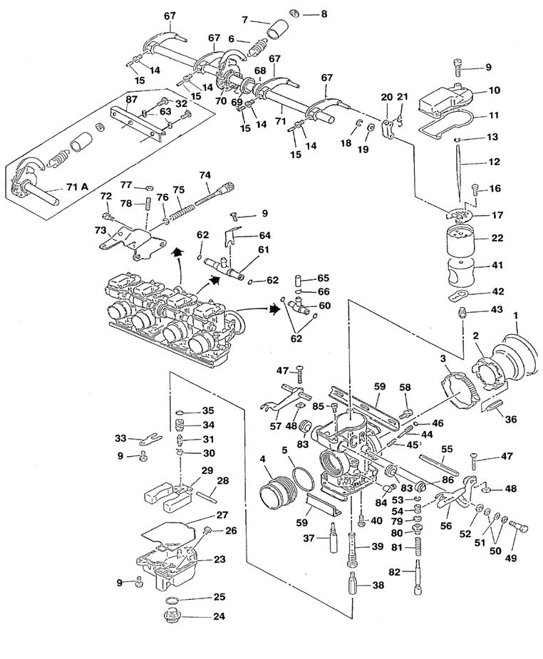 kawasaki kfx 50 carburetor diagram