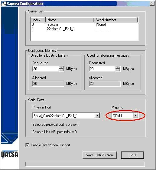Configuring an Unsupported Camera Link Frame Grabber to Run a Point