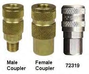 Male Pipe Thread 1//4-18 NPTF Port 1//4 Size Parker Hannifin A2C Series 50 Pneumatic Quick Coupling Nipple