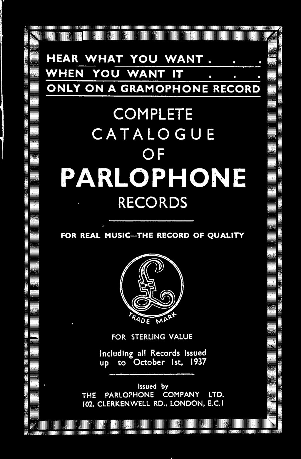 PRICES OF PARLOPHONE RECORDS - PDF