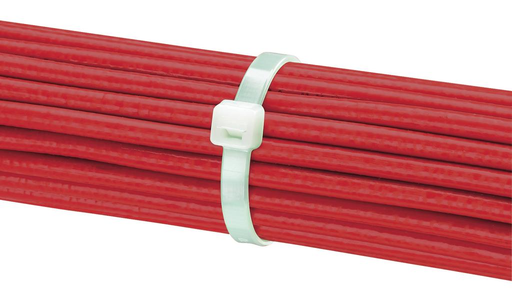 Reel-fed cable ties are fully encapsulated to ensure the ties are