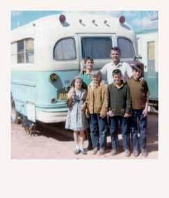 Chapter 10 continued Jerry, Anet, and their children with the 1954 school bus The gift she wanted was for me to not talk about those first twenty years any more.
