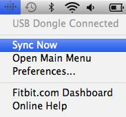 Wireless sync to a computer Fitbit Connect must be installed and your Wireless sync dongle plugged into your computer for your tracker to sync to Fitbit.com. Syncing occurs every 15 minutes when your tracker has new data and is within 15 feet of a plugged-in Wireless sync dongle.