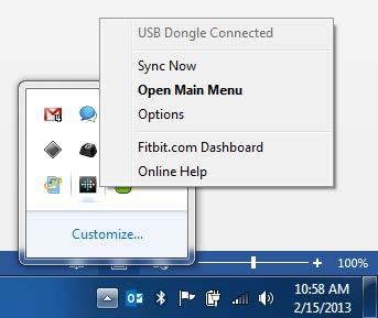 Pairing to a PC 1. In the Windows System Tray, right-click the Fitbit Connect icon and choose Open Main Menu. 2. From the main menu, select Set Up a New Fitbit Device. 3. Account Setup: a.