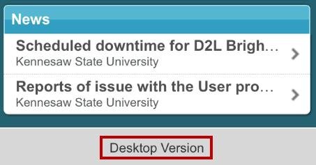 D2l Brightspace Student Guide For Mobile Devices University