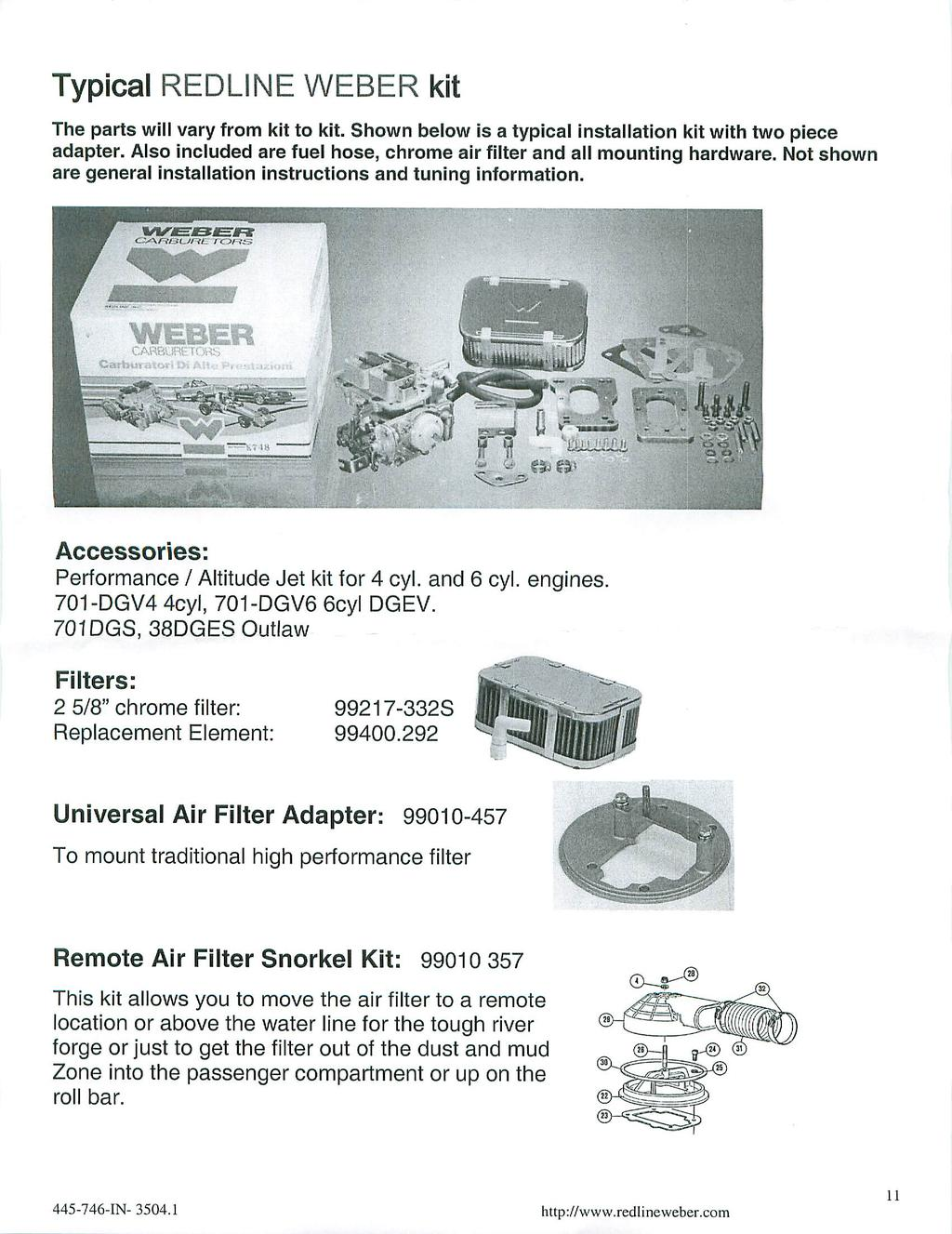 steps of these instructions before beginning this installation  Kit