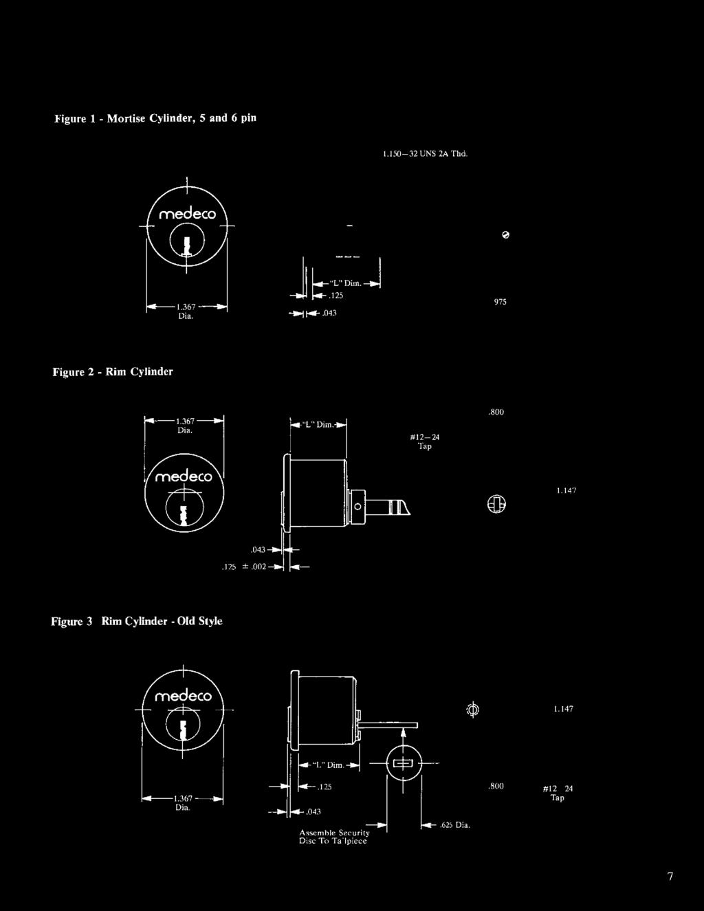 Askyourlocksmithcom Pdf Vendo 63 Wiring Diagram Figure 1 Mortise Cylinder 5 And 6 Pin 1150 32 Uns 2a Thd
