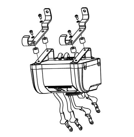 To Mount Solenoid Box Over Motor Select Correct Hardware From