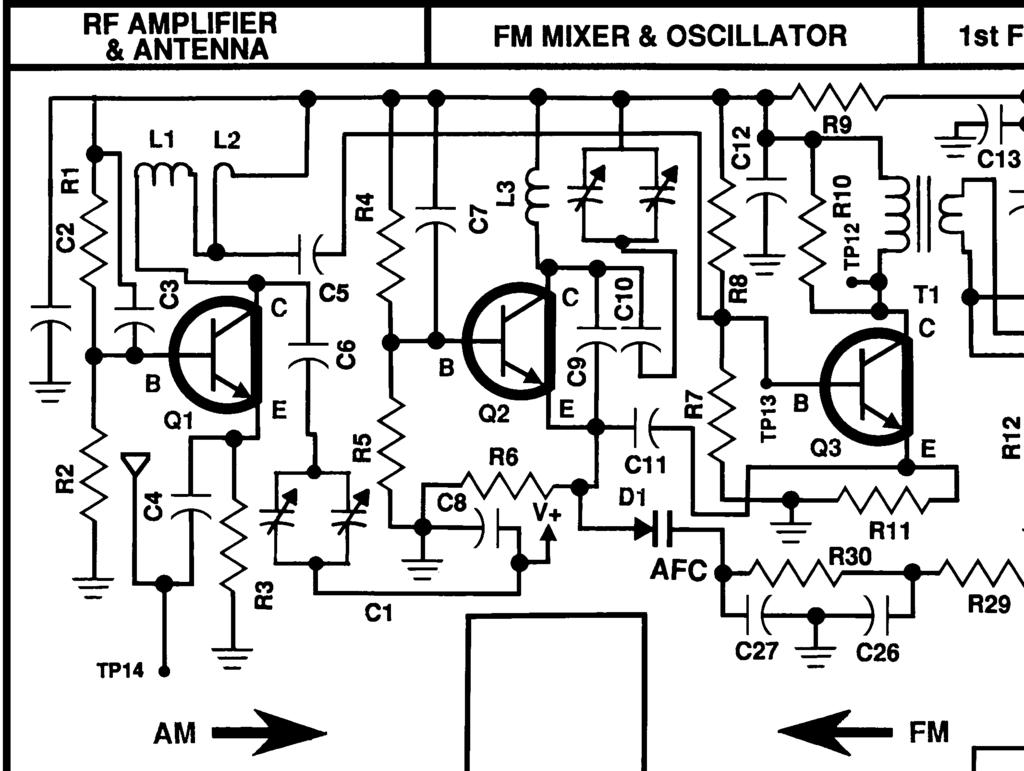 am fm radio kit model am fm 108k integral circuit 9 transistors 4 Long Wave Transmitter Schematics due to changes in temperature voltage and other effects the local oscillator may change