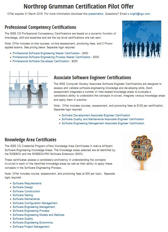 Ieee Computer Society Professional Education And Certification
