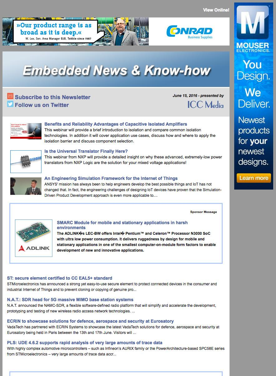 About Icc Media Overview An Aspencore Company Pdf June 2012 Electronic Components Microchips Wood Frame 120x120 Cm Newsletters Print Embedded News Know How The E