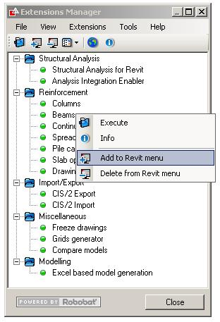 Explore the possibilities with the Revit Extensions Nicolas