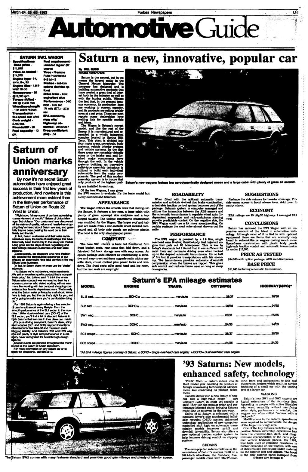 Thefestfield Record Pdf Air Conditioning Four Season System Wiring Diagram C K Models For 1979 Gmc Light Duty Truck Series 10 35 Forbes Newspapers U 1 Saturn Sw1 Wagon A New Innovative Popular Car