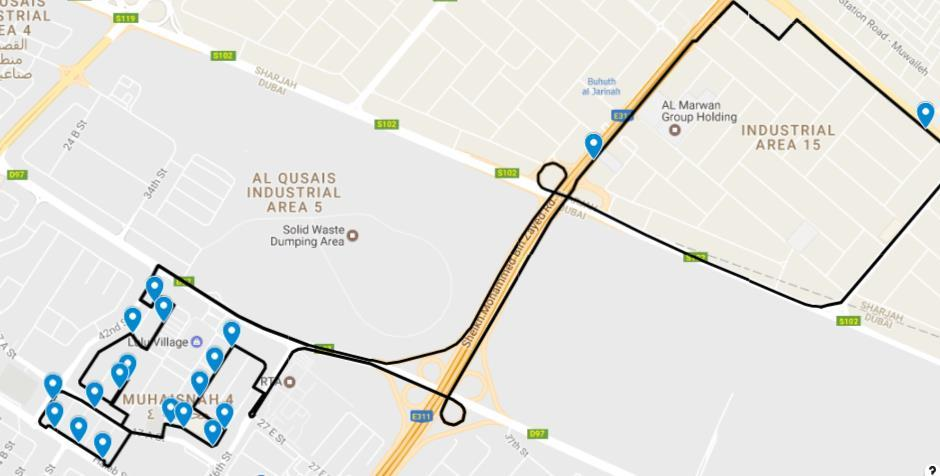 DELHI PRIVATE SCHOOL, SHARJAH - SENIOR WING BUS ROUTES - PDF
