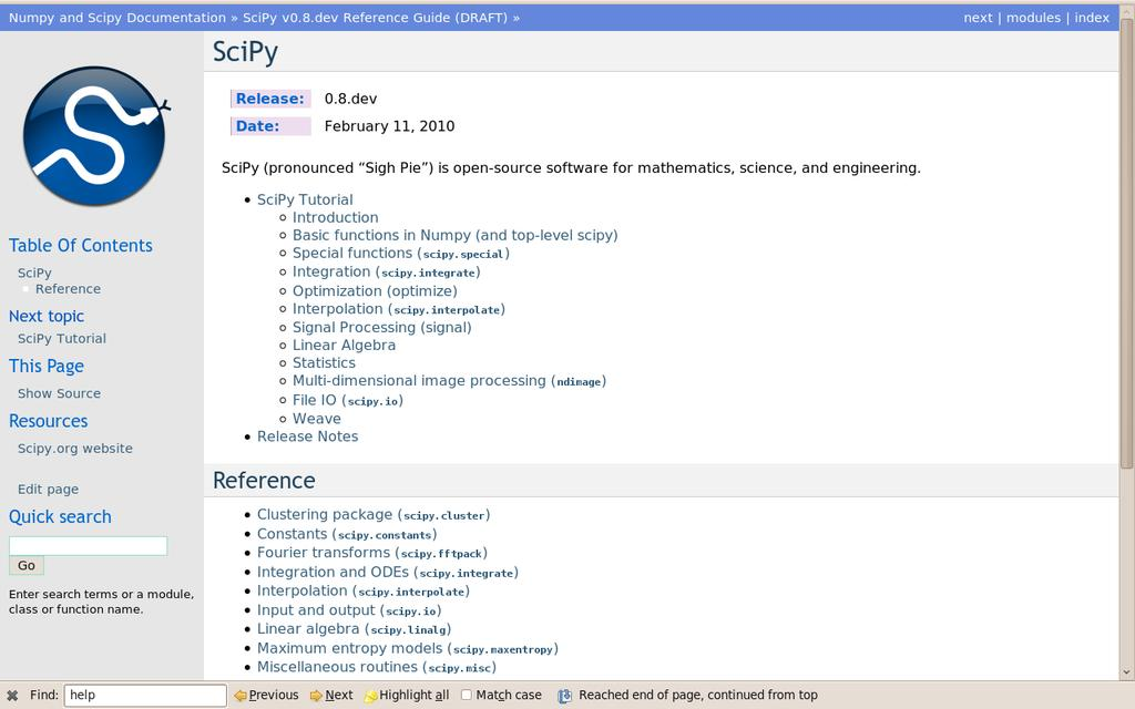 Contents  Python Scientific lecture notes  Release EuroScipy