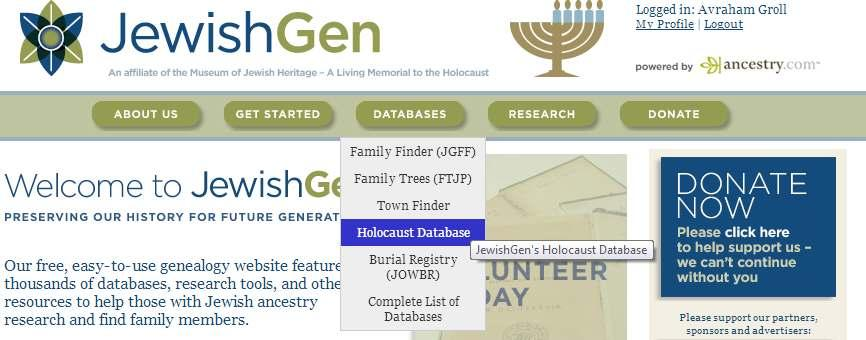 Connecting with YOUR past - JewishGen org  Presented by