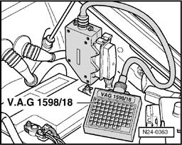 engine removing and installing pdf 1998 Volkswagen Jetta Fuse Box Diagram 28 29 knock sensor checking special tools and equipment vag 1598 18 test