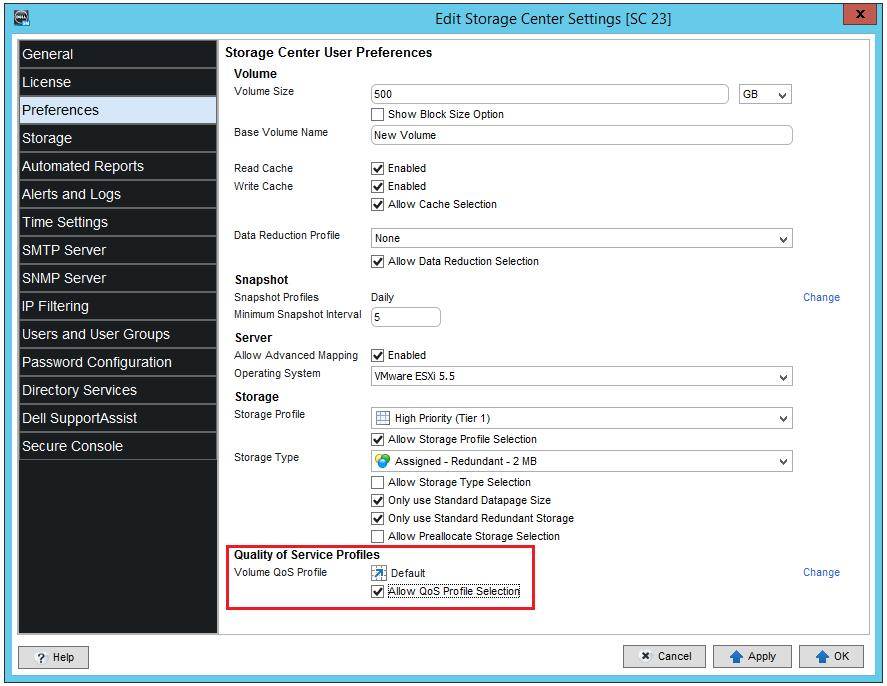 Volume Quality of Service Best Practices with Dell SC Series